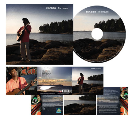 "Eric Bibb CD Pakaging Design for ""The Haven"""