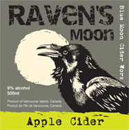 ravens moon cider label
