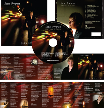 Sue Pyper CD packaging design