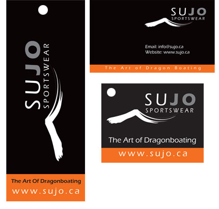Sujo Sportswear Labels, Tags and Packaging design examples