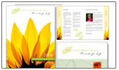 Link to comox hospice annual report design