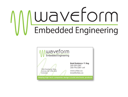 Waveform engineering logo design